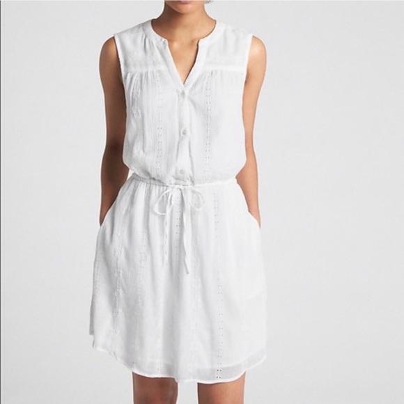 50e1f56f2e1 GAP Dresses | Nwt Sleeveless Eyelet Shirt Dress | Poshmark